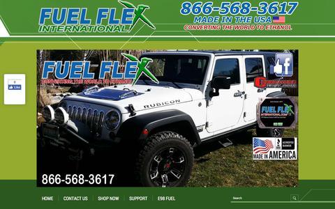 Screenshot of Contact Page fuelflexinternational.com - E85 conversion kits - e85 kits - ALCOHOL FUEL CONVERSION KITS - FLEX FUEL CONVERSIONS - Fuel Flex International, Full Flex International - Full Flex Gold and ECO Flex Platinum USA Distributor flex fuel - Pulstar pulse Spark Plugs - FLEX COMBUSTIBLE - captured Aug. 4, 2016