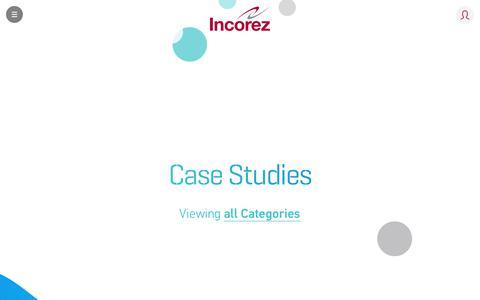 Screenshot of Case Studies Page incorez.com - Case Studies | Incorez | Oxazolidine, Waterborne Epoxy, Waterborne Polyurethane, Polyurethane - captured Oct. 11, 2018