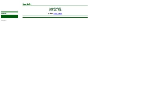 Screenshot of Home Page ole-dahl.dk - Akupunktur - Læge Ole Dahl / Kontakt - captured June 11, 2016