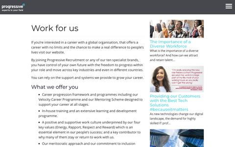 Work for us - Progressive Recruitment