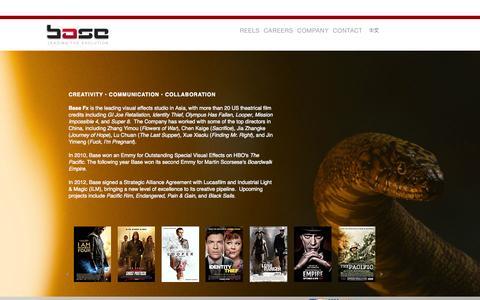 Screenshot of Home Page base-fx.com - Base: Leading the Evolution - captured Oct. 5, 2014