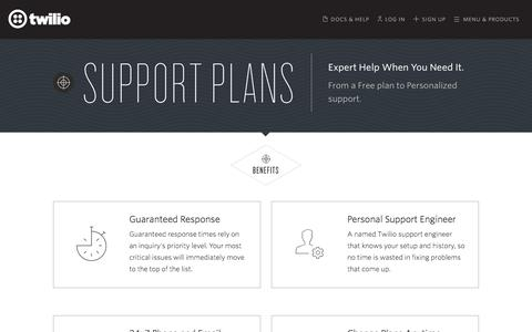 Support Plans for Text, VoIP & Voice APIs - Twilio