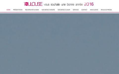 Screenshot of Home Page agence-mytoulouse.com - Agence immobilière My Toulouse - Croix de Pierre - Saint Cyprien, Expert en valeur vénale, Spécialiste de l'immobilier à Toulouse : vente appartement, maison, loft Toulouse. Estimation, transaction, location. - captured Dec. 28, 2015