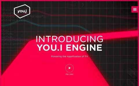 Screenshot of Home Page youi.tv - You.i TV - The UI Engine For TV Everywhere - captured Nov. 16, 2015