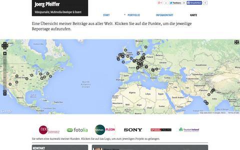 Screenshot of Maps & Directions Page joergpfeiffer.de - | Joerg Pfeiffer | Videojournalist & Multimedia-Developer - captured Oct. 27, 2014