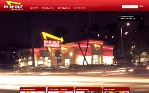 Screenshot of Home Page Privacy Page Terms Page in-n-out.com - In-N-Out Burger - captured Sept. 22, 2014