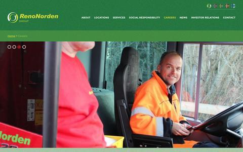 Screenshot of Jobs Page renonorden.com - RenoNorden » Careers - captured March 8, 2016