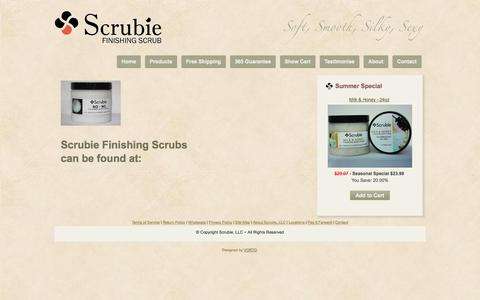 Screenshot of Locations Page scrubie.com - Locations Resellers - captured Sept. 30, 2014