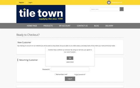 Screenshot of Login Page tiletown.co.uk - Login - captured Oct. 24, 2017