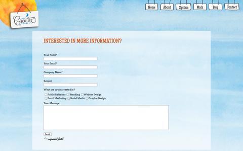 Screenshot of Contact Page thecreativecompany.com - Contact   The Creative Company, Inc. - captured Oct. 1, 2014