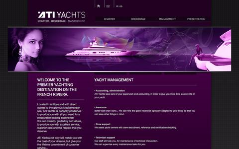 Screenshot of Team Page atiyachts.com - ATI Yachts - The specialists in pleasure boats and rental - Management - captured Sept. 30, 2014