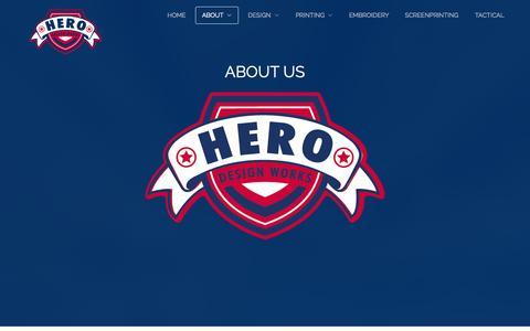 Screenshot of About Page herodesignworks.com - About - Hero Design Works - captured Sept. 30, 2014