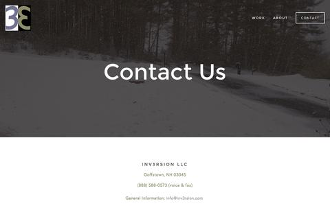 Screenshot of Contact Page inv3rsion.com - Contact — INV3RSION - captured Sept. 26, 2015