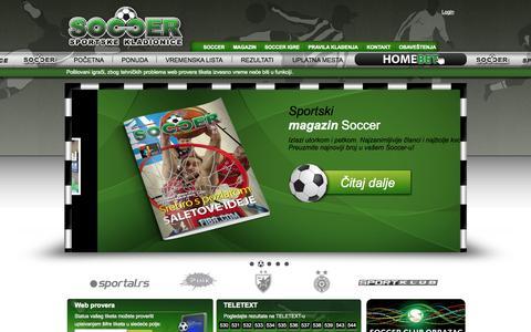 Screenshot of Home Page kladionicasoccer.com - Soccer kladionica - Pocetna strana... - captured Sept. 19, 2014
