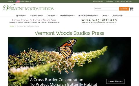 Screenshot of Press Page vermontwoodsstudios.com - News, Press and articles - Vermont Woods Studios - captured June 17, 2017