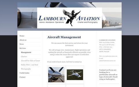 Screenshot of Team Page lambournaviation.com - Lambourn Aviation - Management - captured Dec. 7, 2015