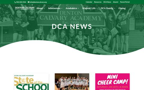 Screenshot of Press Page dentoncalvary.org - DCA News | Denton Calvary Academy - captured Dec. 19, 2018