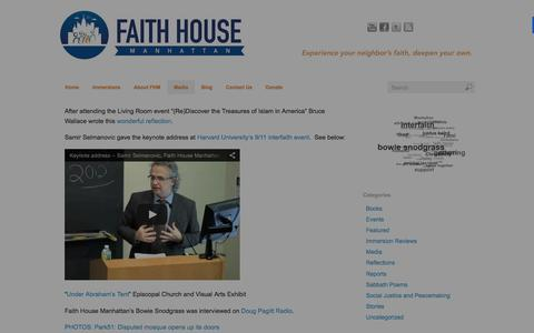 Screenshot of Press Page faithhousemanhattan.org - In the News - Faith House Manhattan - captured Jan. 8, 2016