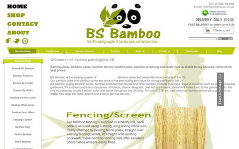 Screenshot of Home Page bs-bamboo.co.uk - bamboo poles,bamboo canes,split bamboo poles and bamboo fencing - captured May 23, 2016