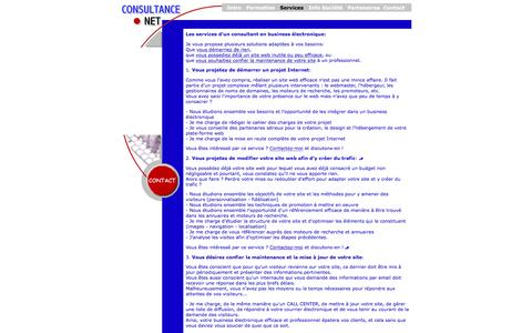 Screenshot of Services Page consultance.net - Consultance NET: les services d'un consultant en commerce électronique - captured March 23, 2017