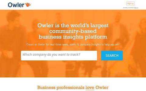 Owler: Competitive Intelligence to Outsmart Your Competition