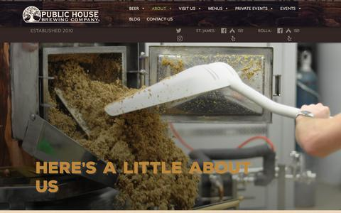 Screenshot of About Page publichousebrewery.com - About Us – Public House Brewing Company - captured Sept. 30, 2018