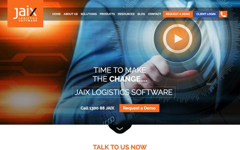 Screenshot of Contact Page jaix.com.au - Jaix Logistics Software - Contact Us - captured April 2, 2016