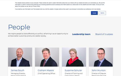 Screenshot of Team Page cedr.com - People - CEDR - captured Jan. 19, 2020