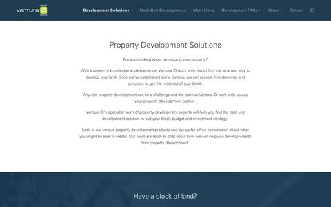 Screenshot of Products Page ventura-id.com.au - Property Development Solutions - captured Oct. 26, 2014