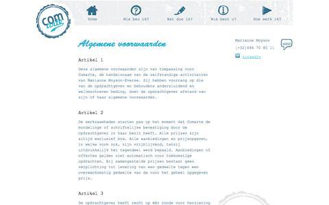 Algemene voorwaarden      - Comarte