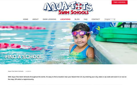 Screenshot of Locations Page aqua-tots.com - Find an Aqua-Tots Swim School - captured Oct. 8, 2017