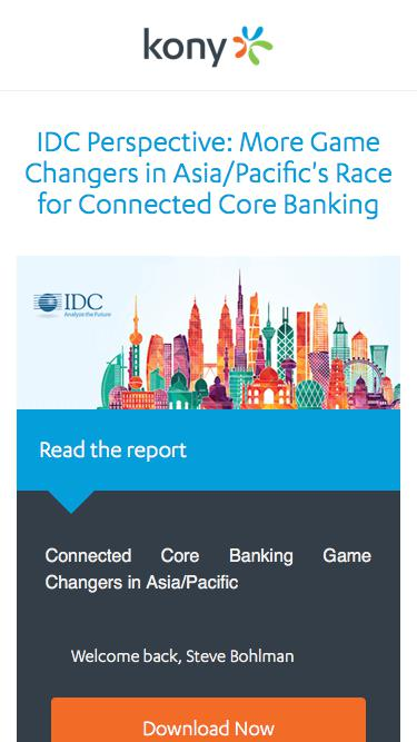 Kony   IDC Perspective: More Game Changers in Asia/Pacific's Race for Connected Core Banking