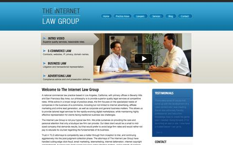 Screenshot of Home Page theinternetlawgroup.com - Internet Lawyer, Attorney | Trademark, Copyright, Defamation Lawyers & Attorneys Los Angeles CA - captured May 10, 2017