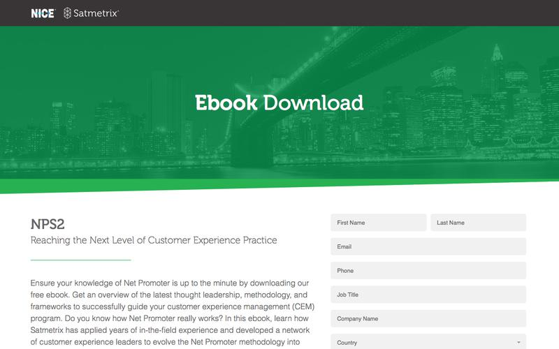 Satmetrix eBook: NPS2: Reaching the Next Level of Customer Experience Leadership