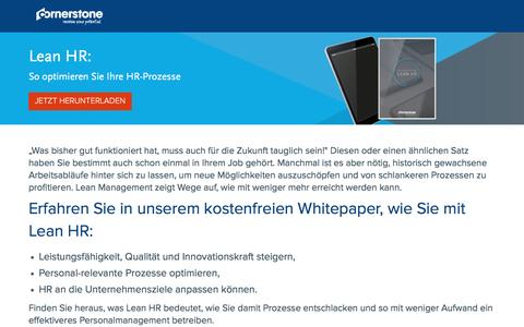 Screenshot of Landing Page cornerstoneondemand.com - Lead HR: So optimieren Sie Ihre HR-Prozesse - captured Oct. 29, 2016