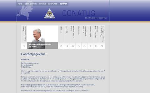 Screenshot of Contact Page conatus.nl - Conatus | Contact - captured March 5, 2016