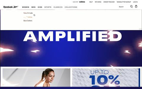 Screenshot of Home Page reebok.ie - Official Reebok Online Shop | Reebok IE - captured Feb. 18, 2020