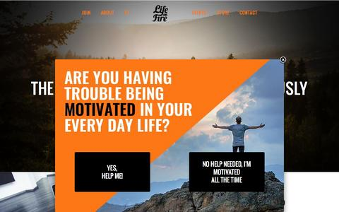 Screenshot of Signup Page lifeonfire.com - Life on Fire Movement | Life on Fire - captured July 14, 2016
