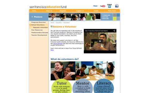 Screenshot of Signup Page sfedfund.org - San Francisco Education Fund - captured Oct. 3, 2014