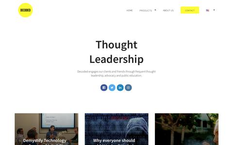 Screenshot of Blog decoded.com - Our Blog | Thought Leadership | Decoded - captured Feb. 15, 2018