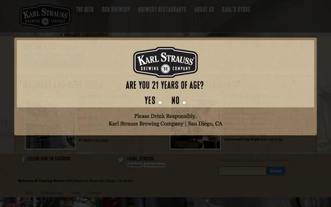 Screenshot of Contact Page karlstrauss.com - Contact Us | Karl Strauss Brewing Company - captured Sept. 23, 2014