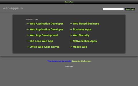 Screenshot of Home Page web-apps.in - Web-Apps.in - captured Oct. 19, 2017