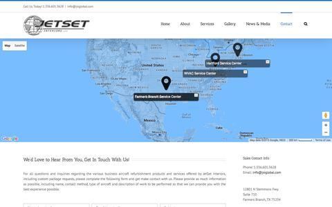 Screenshot of Contact Page jsiglobal.com - JetSet Interiors   –  Contact - captured Sept. 24, 2015