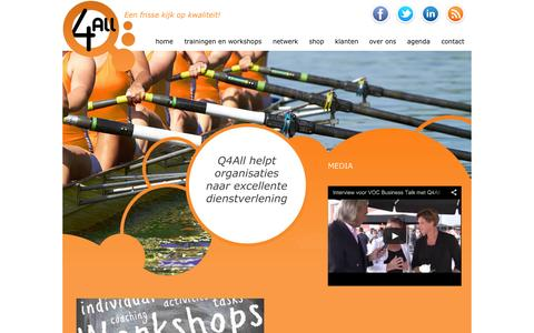 Screenshot of Press Page q4all.nl - Media | Q4All.nl - captured Sept. 26, 2014