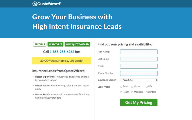 Buy Insurance Leads Direct from QuoteWizard