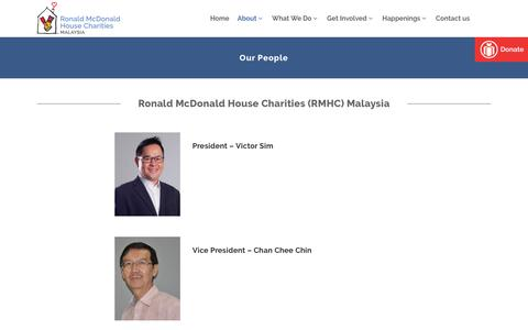 Screenshot of Team Page rmhc-malaysia.my - Our People - Ronald McDonald House Charities - captured May 7, 2017