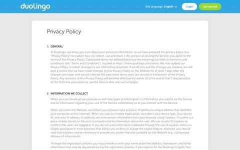 Privacy - Duolingo