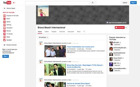 Screenshot of YouTube Page youtube.com - Brava Beach Internacional  - YouTube - captured Oct. 23, 2014
