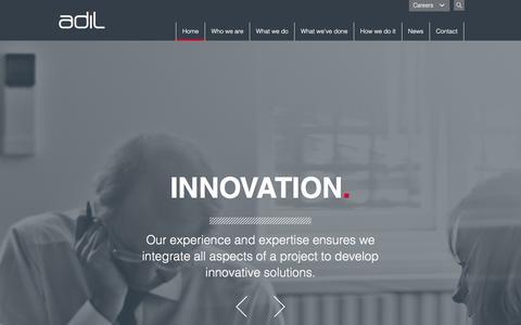 Screenshot of Home Page assetdev.com - Oil & Gas Consultancy | ADIL - captured Jan. 24, 2016
