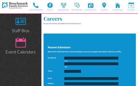 Screenshot of Jobs Page benchmarkfamilyservices.org - Careers - Benchmark Family Services - captured June 1, 2017